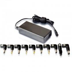 Cargador de portátil leotec home/ 90w/ automático/ 10 conectores/ voltaje 15-20v