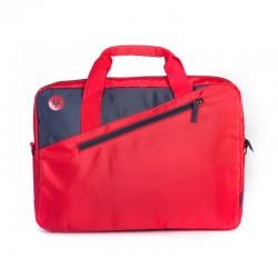 Maletín monray ginger red - para portátiles hasta 15.6'/39.6cm - nylon - 2 compartimentos + bolsillo - cinta para trolley