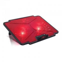 Soporte refrigerante spirit of gamer airblade 100 rojo para portátiles hasta 15.6'/ iluminación led