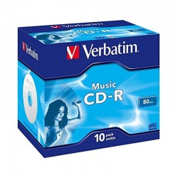 Cd-r verbatim music 16x/ caja-10uds