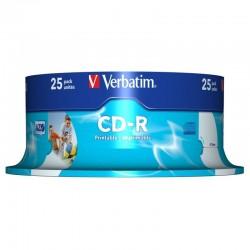 Pack 25 cd-r verbatim 43439 - printable - 700mb - 52x