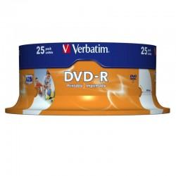 Tarrina 25 unidades verbatim 43538 - dvd-r - 16x - 4.7gb - printable