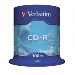 Cd-r verbatim datalife 52x/ tarrina-100uds