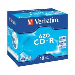 Cd-r verbatim azo crystal 52x/ caja-10uds