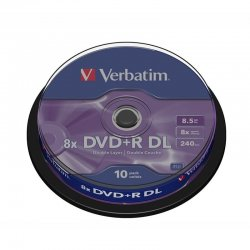 Dvd+r doble capa verbatim advanced azo 8x/ tarrina-10uds
