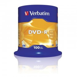 Dvd-r verbatim advanced azo 16x/ tarrina-100uds