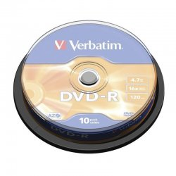 Dvd-r verbatim advanced azo 16x/ tarrina-10uds