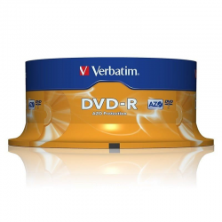 Dvd-r verbatim advanced azo 16x/ tarrina-25uds