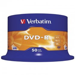 Dvd-r verbatim advanced azo 16x/ tarrina-50uds