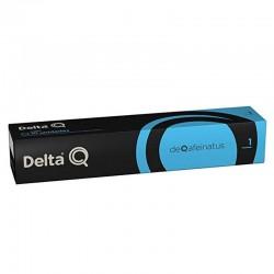 Caja de 10 cápsulas de café delta deqafeinatus (descafeinado) - intensidad 1 - compatibles con cafeteras delta