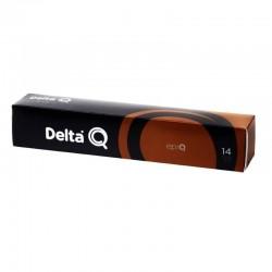 Caja de 10 cápsulas de café delta epiq - intensidad 14 - compatibles con cafeteras delta