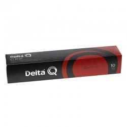Caja de 10 cápsulas de café delta qalidus - intensidad 10 - compatibles con cafeteras delta