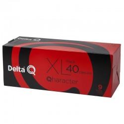 Caja de 40 cápsulas de café delta qharacter - intensidad 9 - compatibles con cafeteras delta