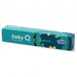 Caja de 10 cápsulas de tisana delta refresh - menta y jengibre - compatibles con cafeteras delta