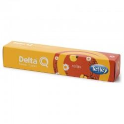 Caja de 10 cápsulas de tisana delta relax - camomila con notas de melocotón - compatibles con cafeteras delta
