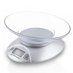 Báscula de cocina orbegozo pc 1009 - hasta 3 kg - precisión 1g - display lcd 17.5mm - bol transparente