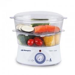 Cocina al vapor orbegozo co 4000 - capacidad 5l - 2 recipientes + recipiente especial arroz - temporizador 60 minutos
