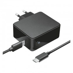 Cargador usb tipo-c trust 23418 para apple macbook (air/pro) - 61w - cable 2m - funciona a 100-240v
