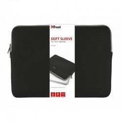 Funda de portatil trust primo hasta 15.6'/39.6cm/sleeve/negra - neopreno viscoelastico - diseño delgado - suave y ligera