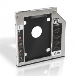 Adaptador para portátil aisens a129-0151- para sustituir dvd de 9.5mm por hd/ssd de 2.5'/6.35cm 7mm - sata - incluye tornillos