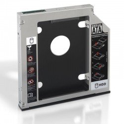 Adaptador para portátil aisens a129-0152 - para sustituir dvd de 12.75mm por hd/ssd de 2.5'/6.35cm 7/9.5mm - sata - incluye