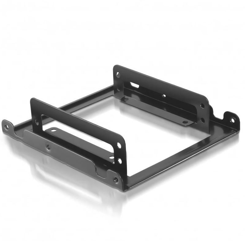 Adaptador metálico 3.5'/8.89cm nanocable 10.99.0002 para 2xhdd 2.5'/6.35 - fácil instalación - incluye tornillos de montaje