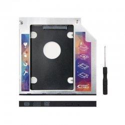Adaptador para portátil nanocable 10.99.0101- para sustituir dvd de 9.5mm por hd/ssd de 2.5'/6.35cm 7mm - sata - incluye