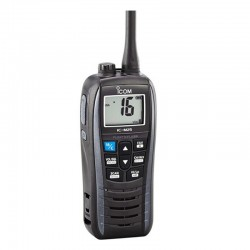 Vhf portátil icom ic-m25 euro/ bandas laterales/ protección ipx7/ flota y parpadea/ batería de litio 1500mah/ autonomía 11h/