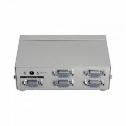Splitter multiplexor vga aisens a116-0085 - 1 entrada - 4 salidas - aumenta señal hasta 65m - adaptador de corriente
