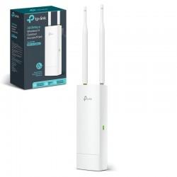 Punto de acceso inalámbrico tp-link eap110-outdoor - exterior - wifi b/g/n - 2.4ghz - 2x antena 5dbi - 1x rj45 - impermeable -