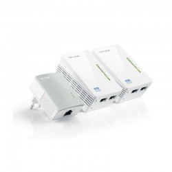 Adaptador powerline tplink wpa4220tkit 500mbps/ alcance 300m/ pack de 3