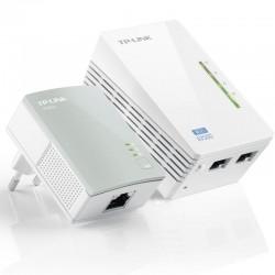Plc/powerline tp-link tl-wpa4220kit kit extensor wifi av600 a 300mbps 2p ethernet 10/100  blanco