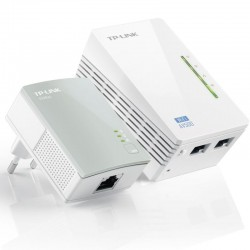 Adaptador powerline tplink wpa4220kit 500mbps/ alcance 300m/ pack de 2