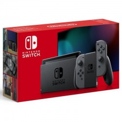 Consola nintendo switch grey v1.1 - consola + base + 2 mandos joy-con + 2 correas para mandos + soporte + cable hdmi +