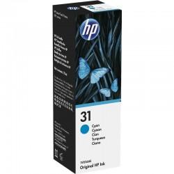 Botella de tinta cian hp nº31 - contenido 70ml - 8000 páginas - compatibilidad según especificaciones