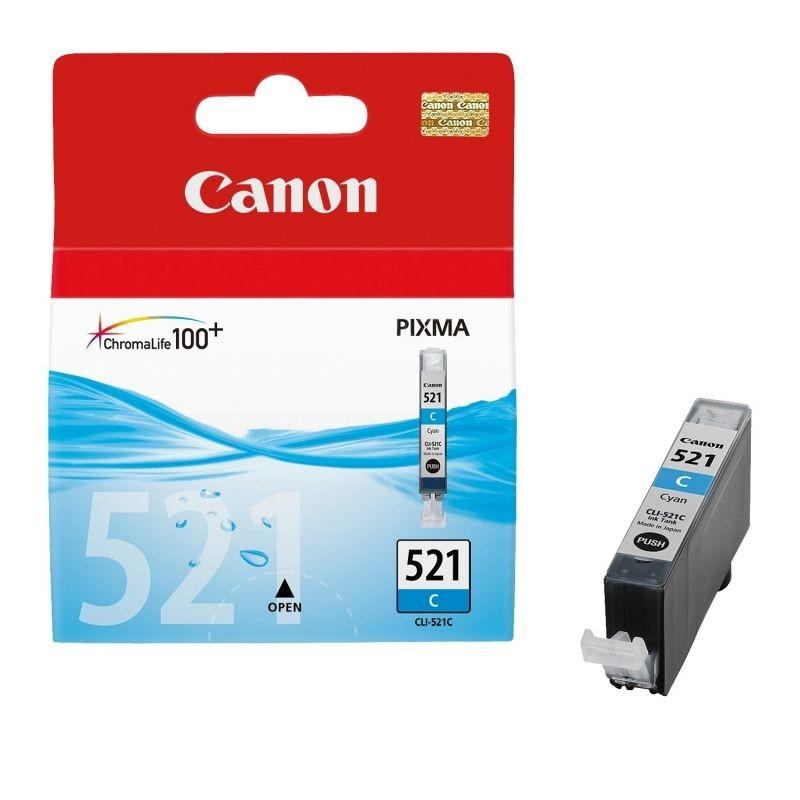 Cartucho de tinta original canon cli-521c/ cian