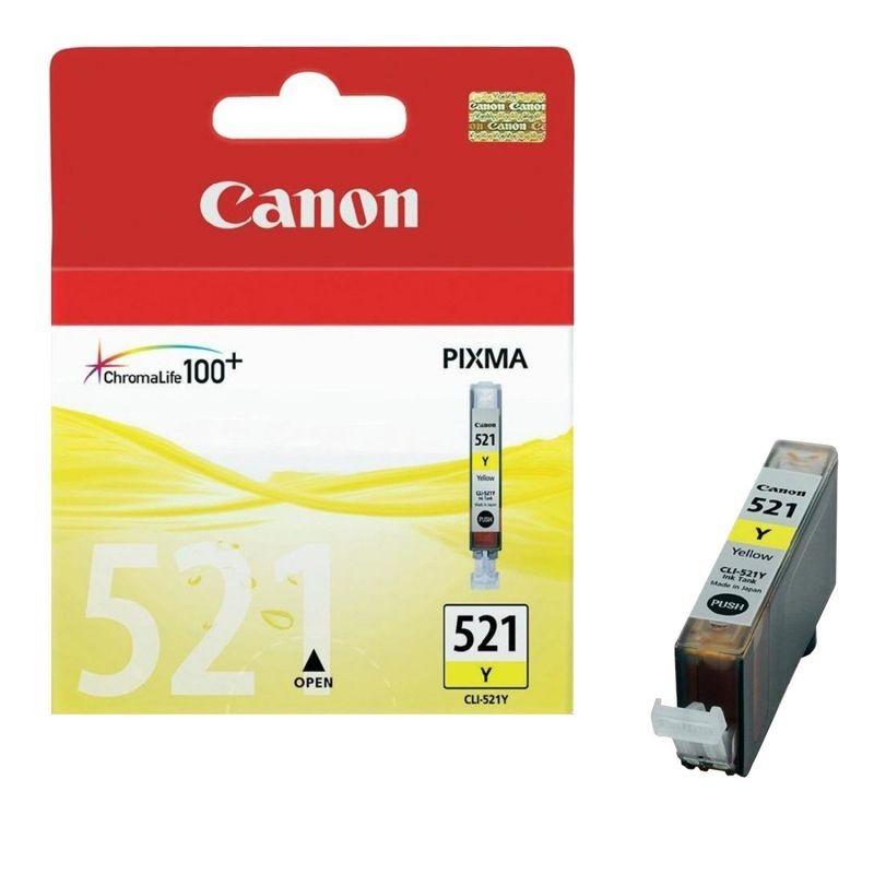 Cartucho de tinta amarillo canon cli-521y - compatible segun especificaciones