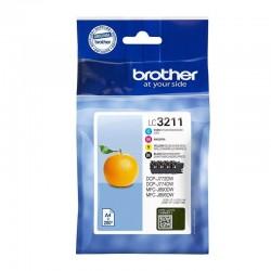 Cartucho de tinta original brother lc-3211val multipack/ cian/ magenta/ amarillo/ negro