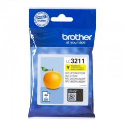 Cartucho de tinta original brother lc-3211y/ amarillo