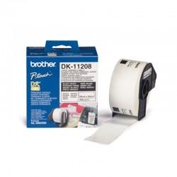 Cinta de etiquetas de papel térmico brother dk11208 - blanco - 38mmx90mm - 400 etiquetas