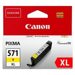 Cartucho de tinta amarillo canon cli-571xl - 11ml - compatible según especificaciones