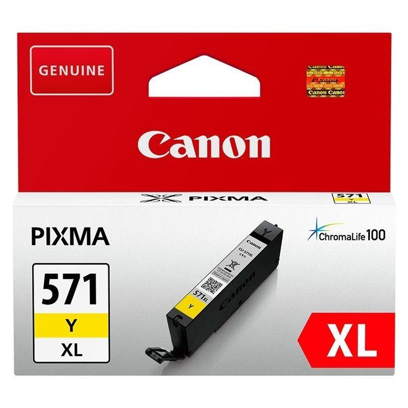Cartucho de tinta original canon cli-571yxl alta capacidad/ amarillo