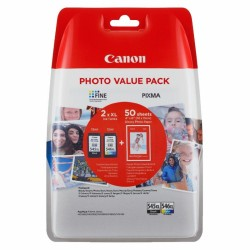 Multipack 2 cartuchos tinta canon + 1xpg-545xl + 1xcl546xl + 50 hojas foto 10x15