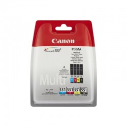 Multipack 4 cartuchos tinta canon 551 - cian - magenta - amarillo - negro - compatible con