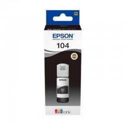 Botella de tinta negra epson 104 ecotank - contenido 65 ml - compatibilidad según características