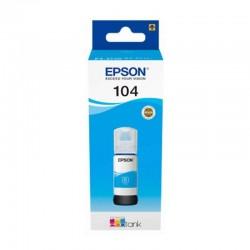 Botella de tinta cian epson 104 ecotank - contenido 65 ml - compatibilidad según características