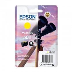 Cartucho tinta amarillo epson 502 - 3.3ml - binoculares - compatible segun especificaciones
