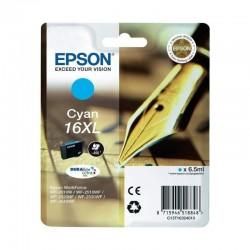 Cartucho epson ultra 16xl cian - 6.5ml - para impresora wf-2010w/wf-2510wf/wf-2520nf - pluma y crucigrama