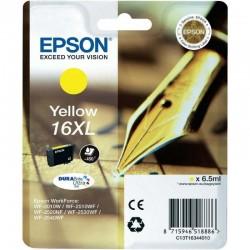 Cartucho tinta epson ultra 16xl amarillo - 6.5ml - para impresora wf-2010w/wf-2510wf/wf-2520nf - pluma y crucigrama