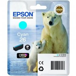 Cartucho tinta cian epson 26 - 4.5ml - oso polar - compatible según especificaciones